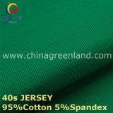 gestricktes Jersey-Gewebe der Baumwolle40s Spandex für Kleid-Hemd (GLLML219)