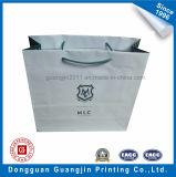 綿のハンドルが付いている高品質の白書のショッピング・バッグ