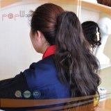 Pelo humano lleno del clip negro del color en Ponytail de la extensión del pelo