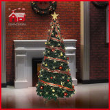 180cm Revolving Christmas Tree mit Colorful Round Decorations