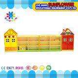 木のおもちゃの食器棚、おもちゃラック(XYH12131-1)を模倣する家