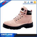 Frauen-rosafarbene obere Sicherheits-Schuhe im Büro Ufb032