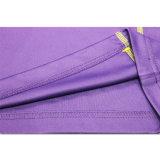A buon mercato progettare le magliette per il cliente adatte viola di polo degli uomini di Dri di modo