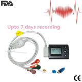 affichage à cristaux liquides ECG Holter Recorder Upto 7 Days Enregistrement-Stella de 3-Channel Mini