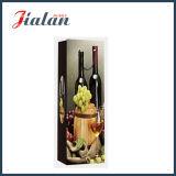Modificar para requisitos particulares con los bolsos de papel de empaquetado ULTRAVIOLETA del regalo de las compras de la botella de vino
