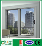 Pó Coated Aluminium Horizontal Glass Sliding Door com Netscreen