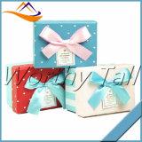 Rectángulo de regalo de papel de encargo de lujo de la nueva Navidad del diseño 2016 pequeña