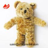 Jouet mou de peluche de marionnette d'animal familier de fourrure d'animal bourré pour des enfants