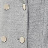 2016 mujeres de la manera modificaron la chaqueta gris de las lanas para requisitos particulares de Sleeveness