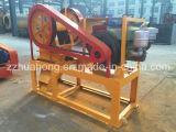 Máquina machacante de piedra portable de la mini del motor diesel de quijada de la trituradora de la exhibición serie del PE para la venta