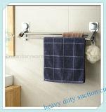 Cremalheira ajustada cromada do trilho de toalha do banheiro com copo da sução