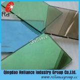 vidrio reflexivo verde oscuro unidireccional del vidrio/verde reflexivo verde oscuro Glass/5mm de 4mm-10m m