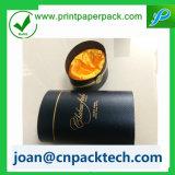 Tubo rotondo squisito di qualità superiore con la casella di carta del rivestimento del velluto