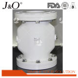 Válvula de compresión de brida Pnumatic de estilo nuevo DIN