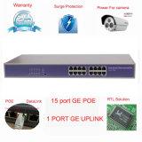 10/100Mbps 16CH Poe Schalter-Zubehör-Energie über Ethernet zu Ipc und zu Wirewless AP (TS1600F-180)