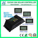 30A 12V / 24V Auto PWM contrôleur de charge solaire (QWP-1430RSL)