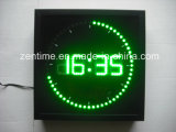 Reloj de la dimensión de una variable del cuadrado de la pared del indicador digital del LED
