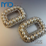 Rhinestone elegante Shoe Buckle para Dress Shoes de Women con Pearl