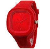 Главный новый аналог кварца геля студня силиконовой резины Yxl-979 резвится wristwatch Unisex Россия/Бразилия 6-ое апреля женщин