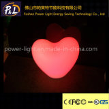 Recargable Iluminado plástico de la lámpara del corazón LED