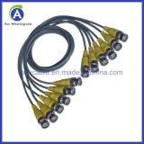 Kabel 6 Mannelijke BNC van de Prijs Rg174 van de fabriek Coaxiale