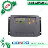 40A, 12V/24V, regulador solar del LCD