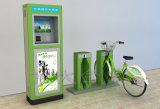 Coluna ordinária do dobro do fechamento da tubulação de aço do verde público da Bicicleta-Grama única