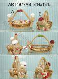 Pan de jengibre casero Basket-2asst de la decoración de Chrsitmas