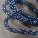 White Blue Patterns Braided Cable