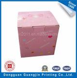 Cor preta caixa Foldable de empacotamento corrugada