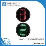 카운트다운 타이머 2 색깔 빨간 녹색 교통 신호 빛