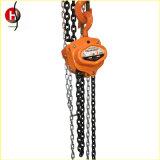 Alzamiento de cadena manual de cadena de elevación de acero aleado G80 de Hsc-Ty
