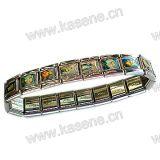Corrente de relógio do metal, bracelete do rosário de Saint da liga