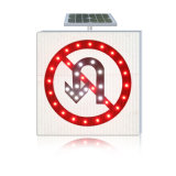 Volviendo Orientación Señal de tráfico solar de aluminio Powered tablero de la muestra
