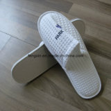 White Waffle Printing Logo Hotel Descartável Slipper Shoes
