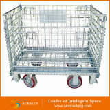 Draht Mesh Container für Warehouse Pallet Rack Storage