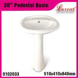 Lavabo sur pied classique de lavage de main des prix de café bon marché de porcelaine