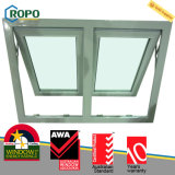 Finestra di vetro della tenda di effetto triplice di uragano di UPVC