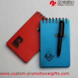 60sheet Hard Cover Pocket Spiral Notebook mit Pen