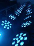 Lumière plate de disco de lumière de PARITÉ du plastique 12X8w DEL
