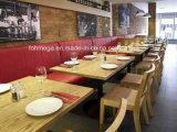 現代赤PUの革レストランブースの座席デザイン