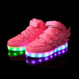 New Style Wing LED Light Comfort Chaussures de sport pour enfants