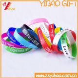 Kundenspezifischer personifizierter gedruckter Firmenzeichen-SilikonWristband für Ereignisse (YB-SM-01)