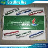 Anunciando a bandeira à mão da bandeira do desdobramento (M-NF35P09005)