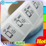 13.56MHz Paper RFID NTAG213 NFC Sticker Smart Roll Label