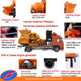 Caminhão Mounted Concrete Drum Mixer Pump Driven por Diesel Engine Generator