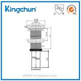 Dren móvil plateado cromo estándar americano de la pipa del recipiente del servicio móvil de cobre amarillo del dren (K9290)