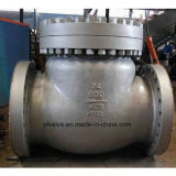 valvola di ritenuta dell'oscillazione dell'estremità della flangia dell'acciaio di getto 150lb/300lb/600lb