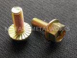 Boulon DIN 6921 de bride de Hexgonal galvanisé (jaune)