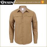 Рубашка напольного Breathable Быстро-Засыхания людей Esdy Long- Sleeved
